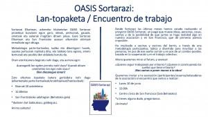 OASIS Sortarazi Encuentro invitación Gonbidapena